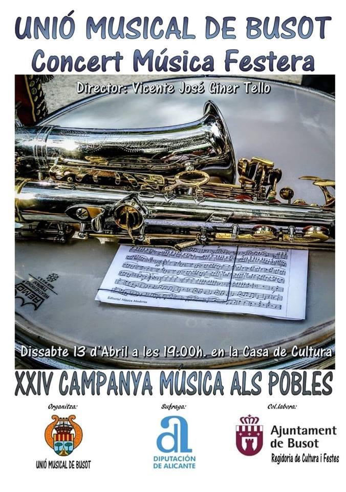 Programa concierto de fiestas Busot 19